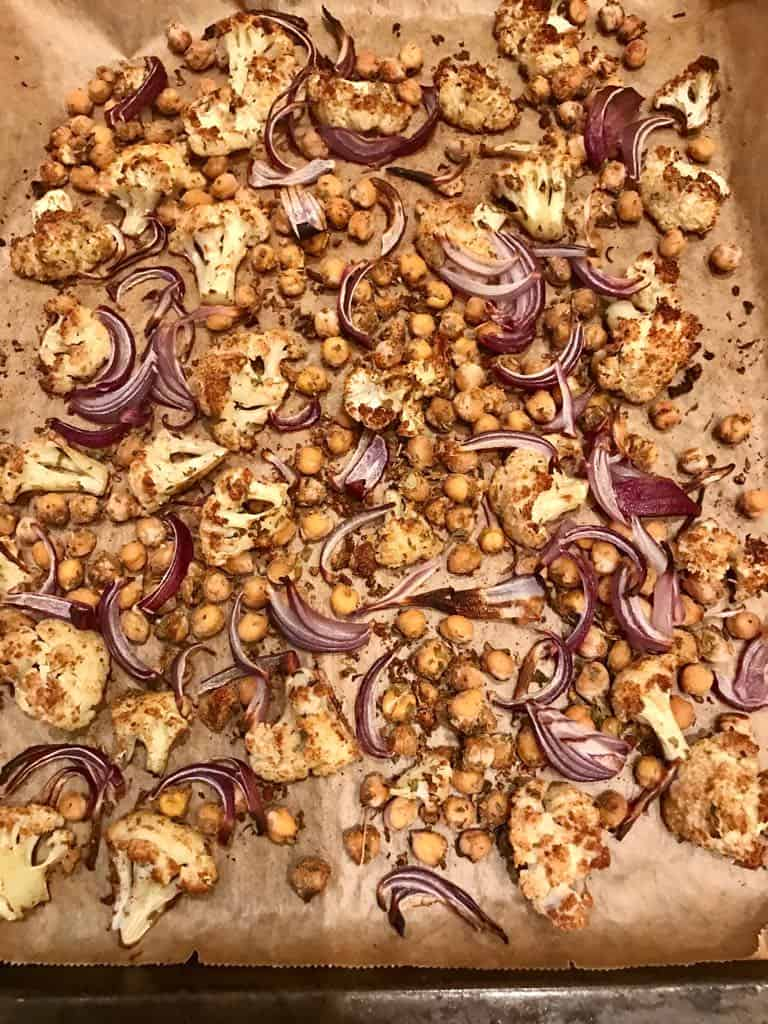 cauliflower and chickpea bake