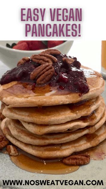 vegan pancakes pin
