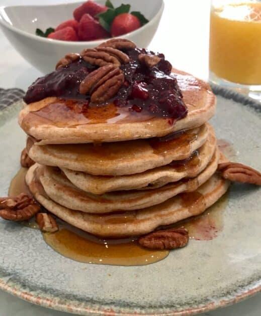 quick vegan pancakes