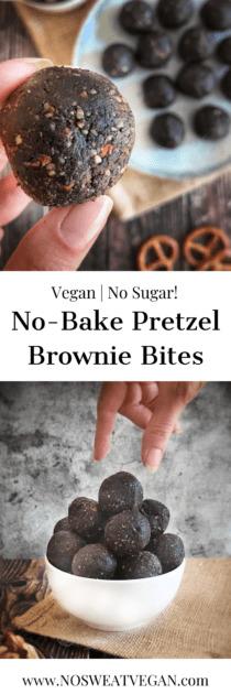 No-Bake Pretzel Brownie Bites