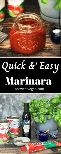 Quick & Easy Homemade Marinara (vegan pasta sauce)