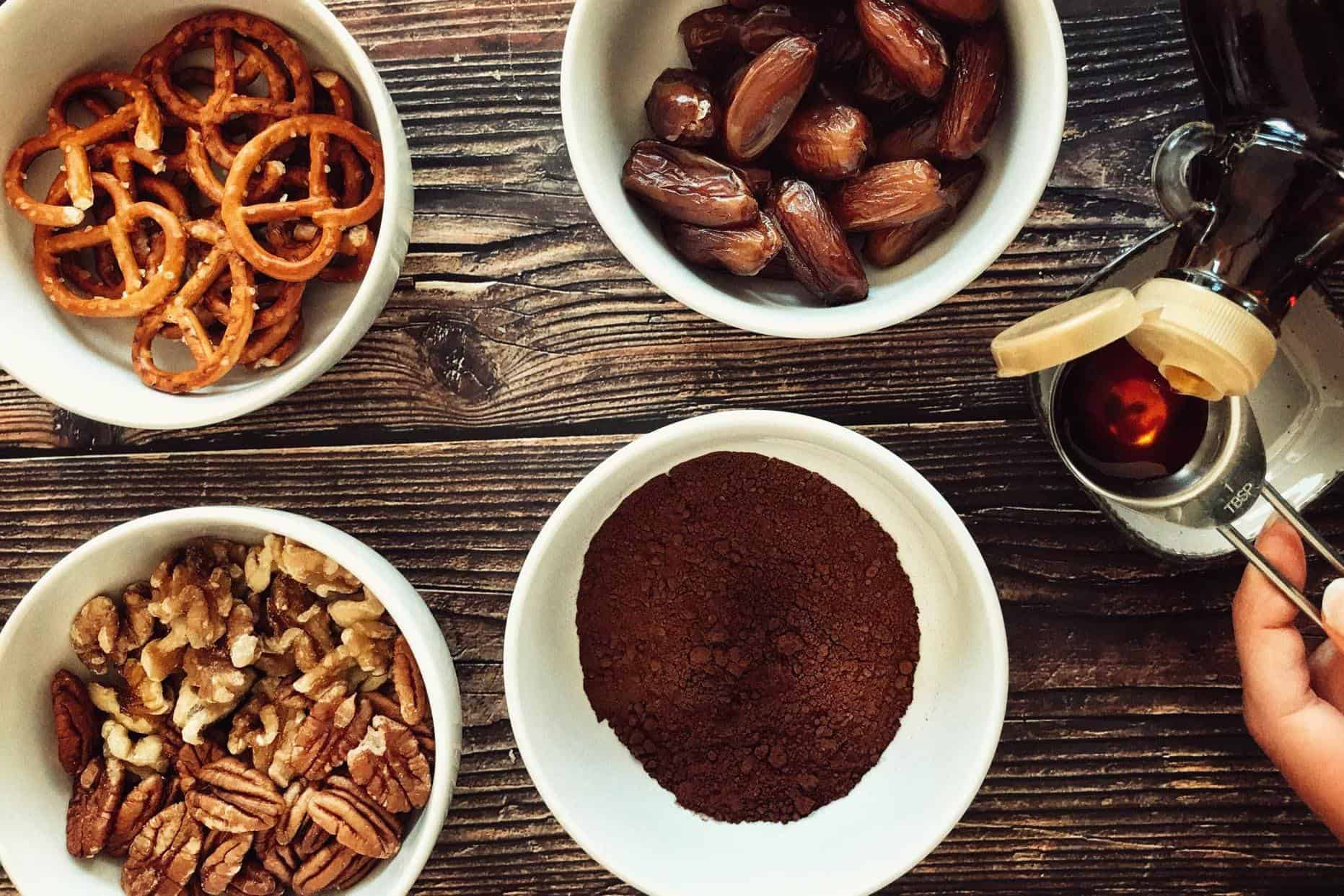 ingredients for no bake little brownie bites