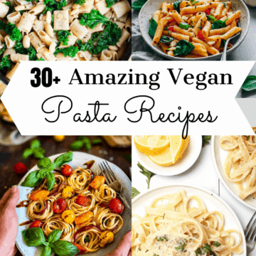 Vegan pasta recipes pin.