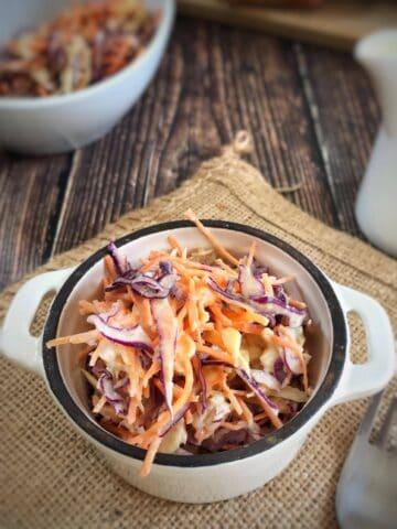 creamy vegan coleslaw oil free
