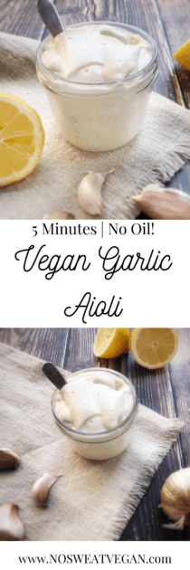 5-Minute Vegan Aioli (Oil-Free)