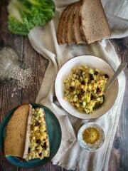 oil free vegan chickpea salad sandwich