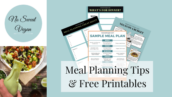 meal planning tips and printables