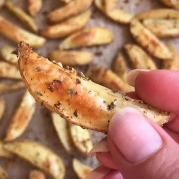oven fries with garlic and oregano