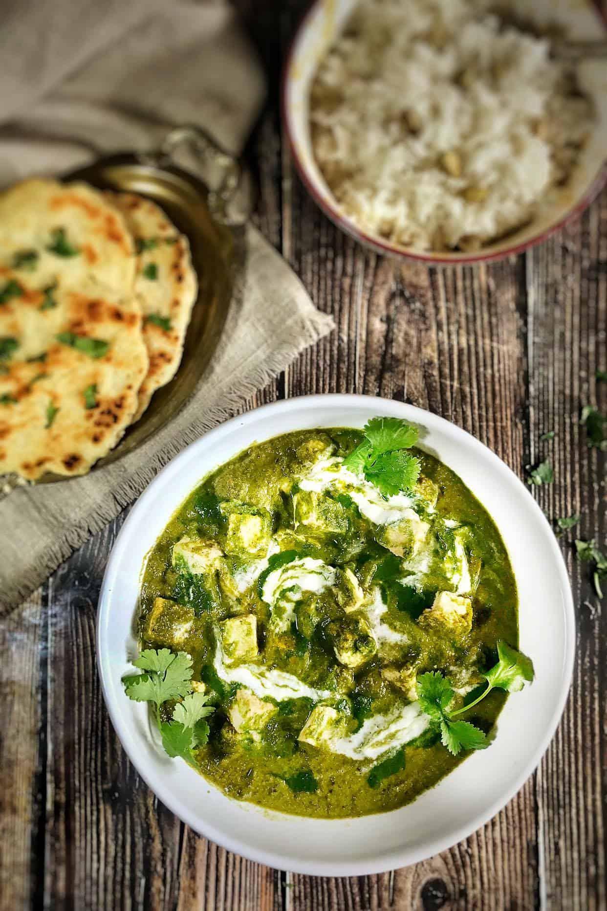 vegan spinach paneer recipe