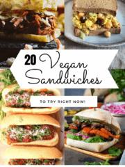 20 vegan sandwiches