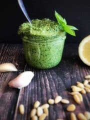 vegan oil-free pesto