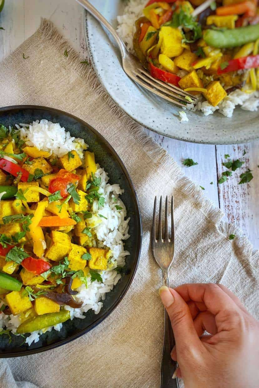 Vegan/Vegetarian Thai Curry with rice