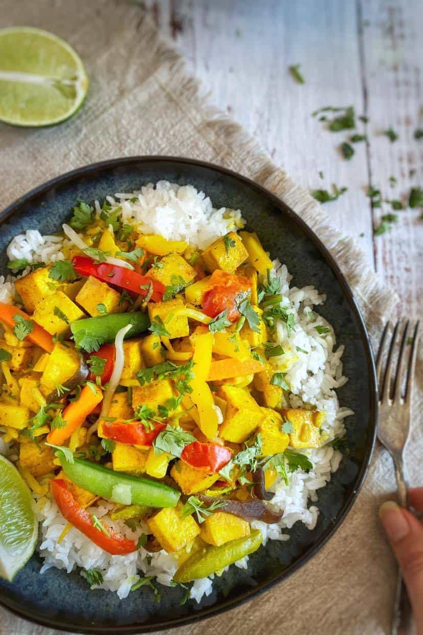 Vegan Thai yellow curry recipe