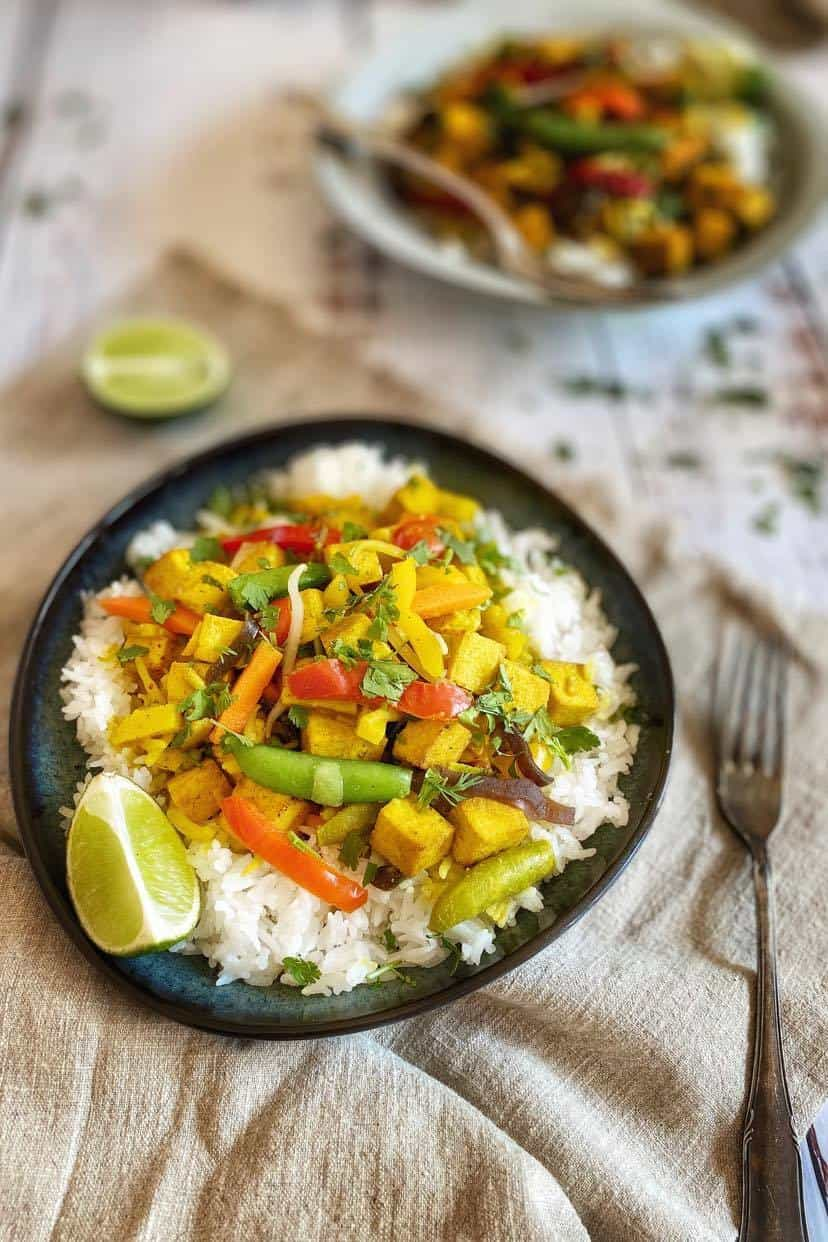 Vegan Thai Curry with tofu