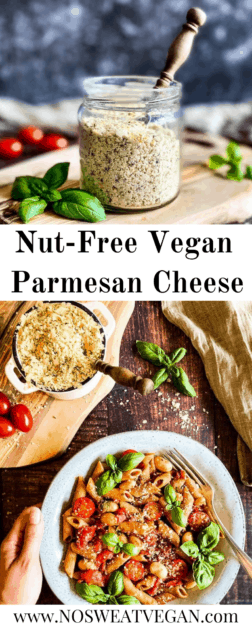 Nut-Free Vegan Parmesan Cheese (with Hemp Hearts and Nutritional Yeast)