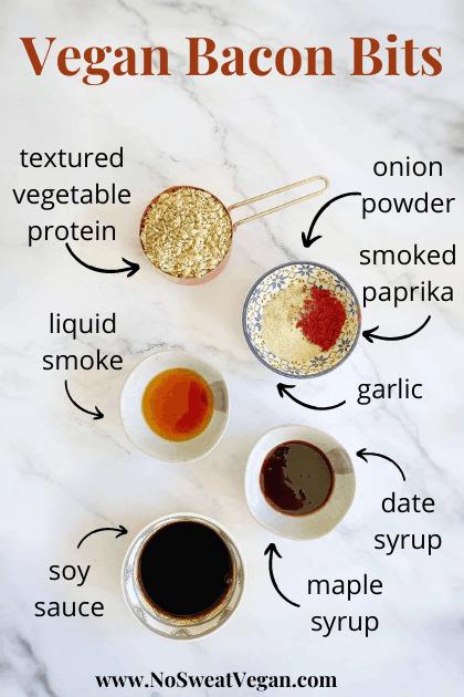 homemade imitation bacon bits (vegan and oil-free)