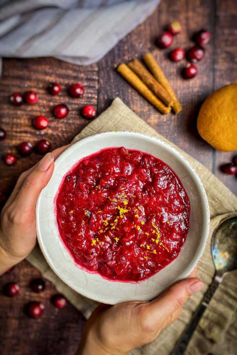 vegan cranberry sauce