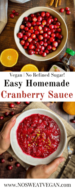 homemade cranberry sauce pin