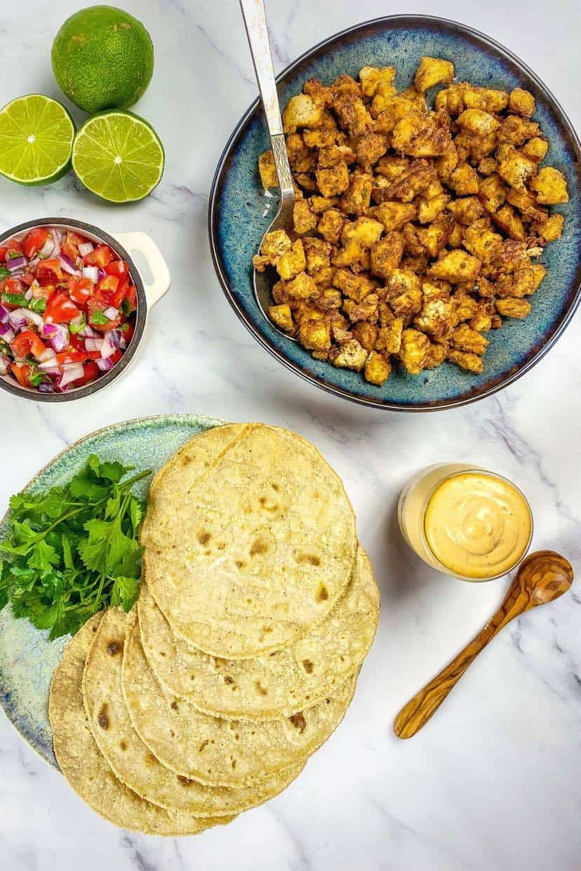how to build a tofu taco