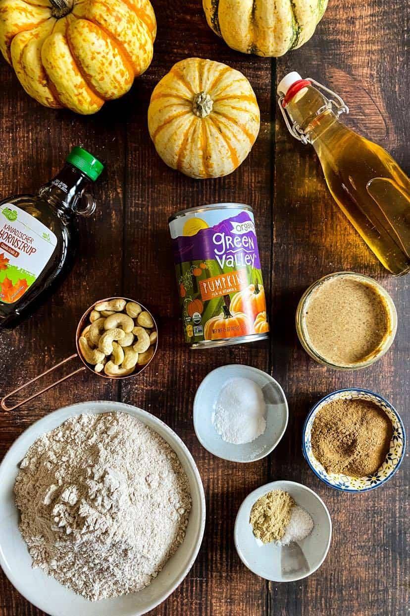 vegan pumpkin cookie ingredients