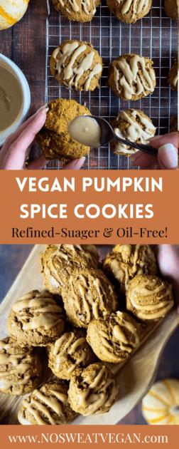 pumpkin cookies vegan pin