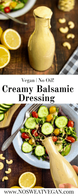 creamy balsamic dressing pin