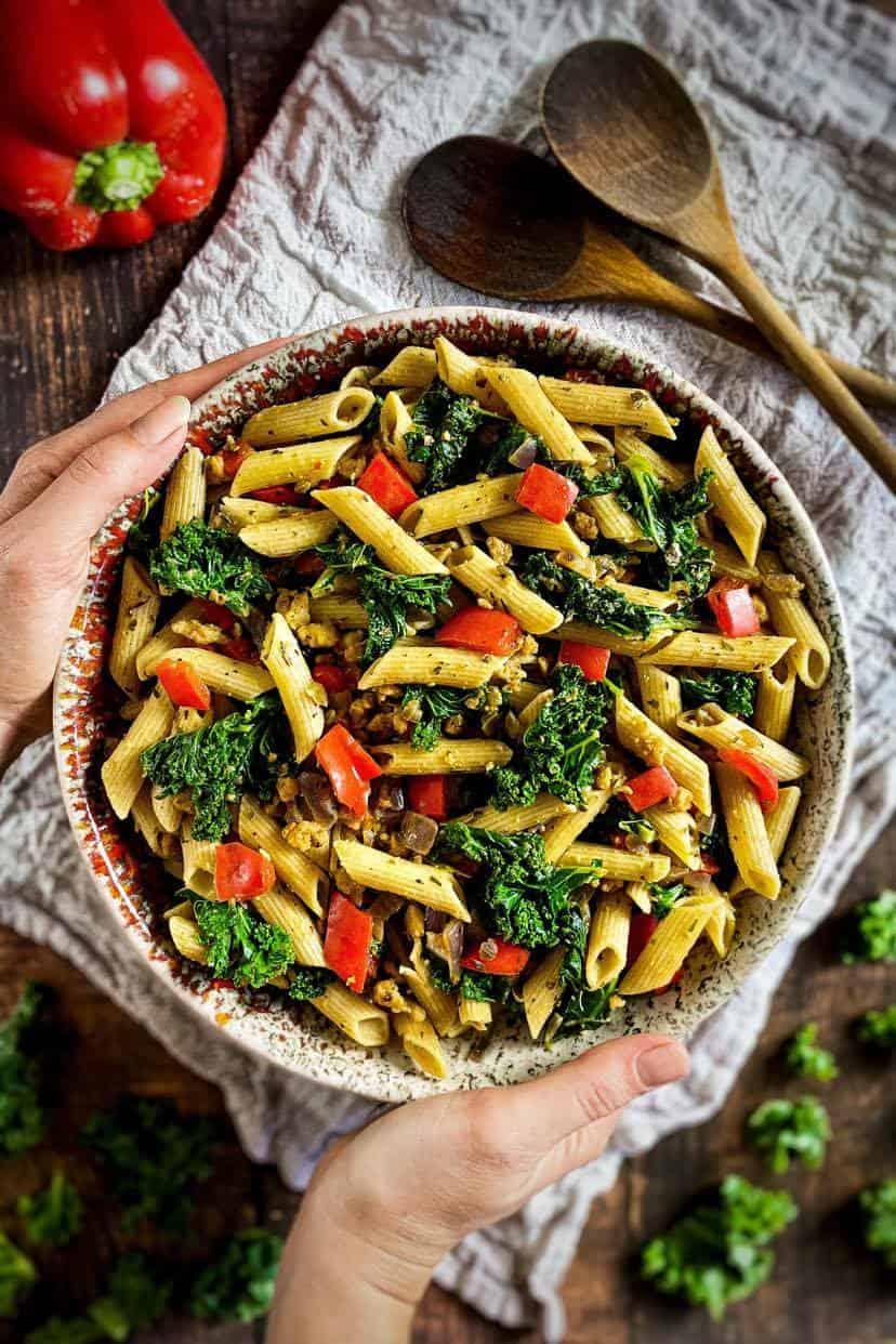 recipe kale pasta, Tuscan Kale Pasta