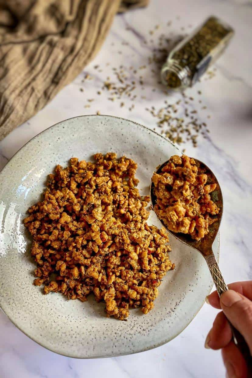 vegetarian meat crumbles recipe