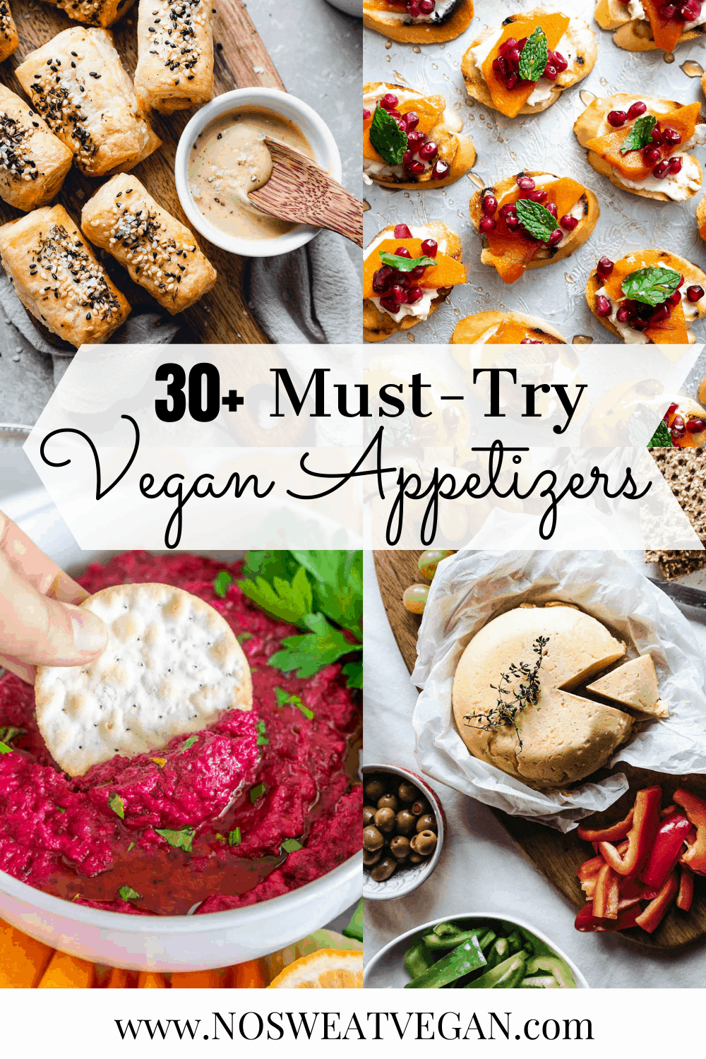 Vegan Appetizers perfect for Christmas, New Year's Eve or Game Day