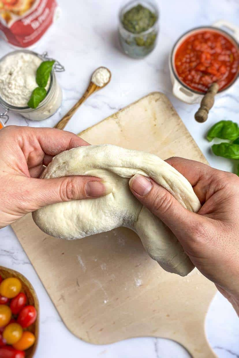 oil-free vegan pizza dough