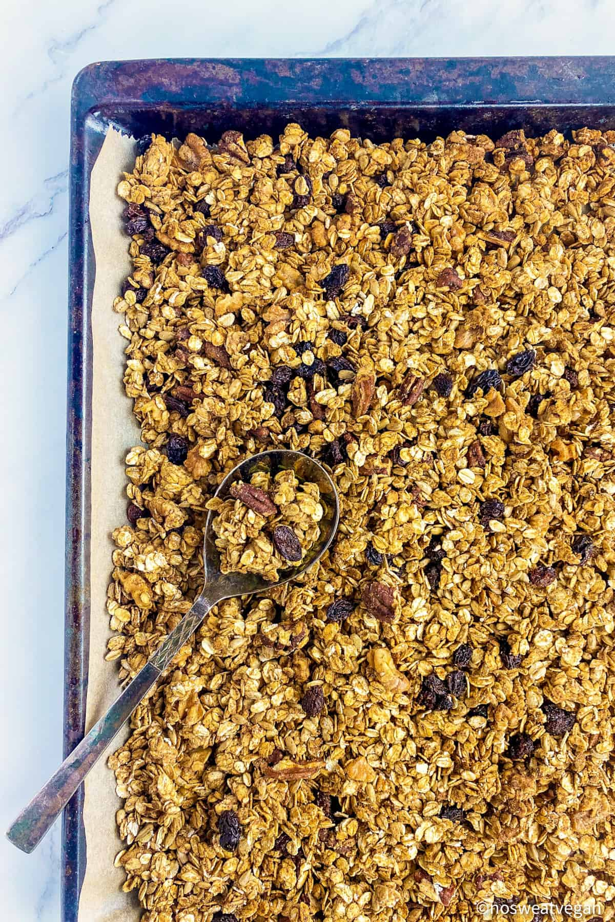 let the granola cool completely before serving