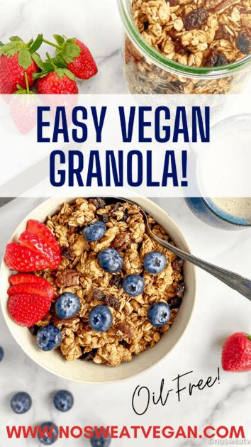 Easy Vegan Granola pin.