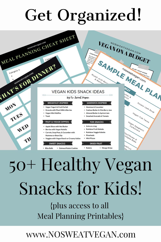 Vegan Kids Snacks Printable