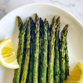 Air fryer asparagus recipe.