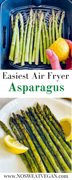 Air Fryer Asparagus pin.