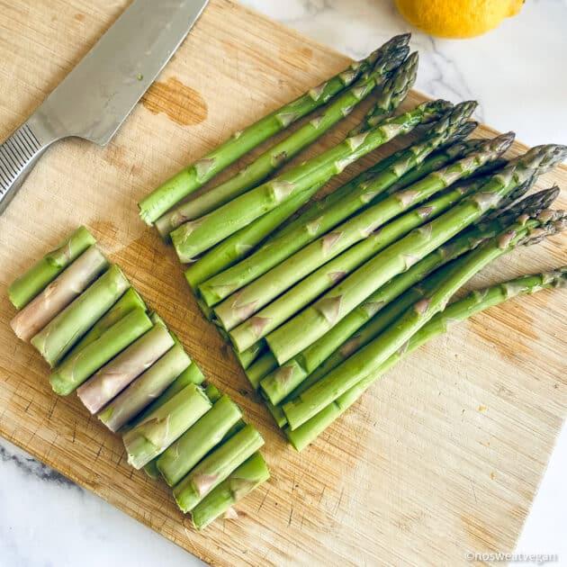 Trimmed asparagus.