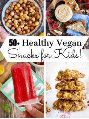 Vegan Kids Snacks pin.