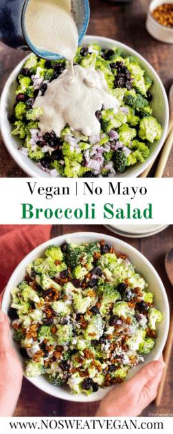 Vegan Broccoli Salad pin.