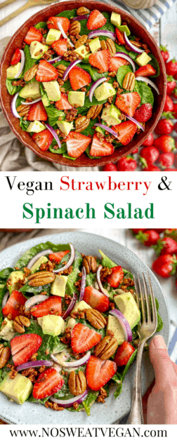 Spinach strawberry salad pin.