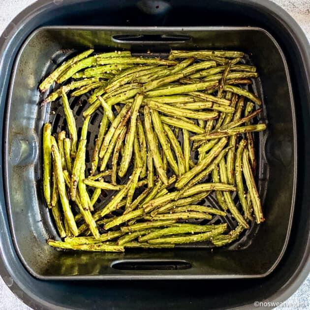 Air fried green beans.