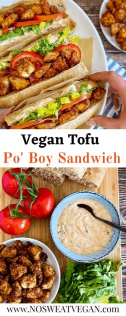 Vegan Po' Boy pin.