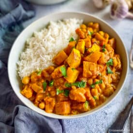Best butternut squash curry with chickpeas.