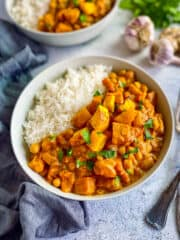 Butternut squash curry.