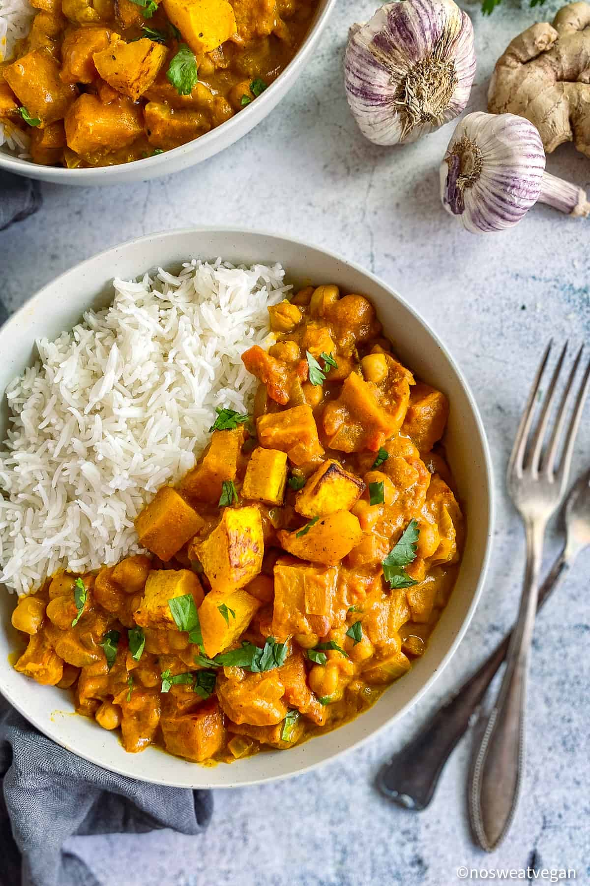 Vegan butternut squash curry.
